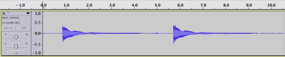 「ラ」の音(時間領域)